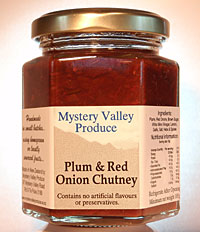 Plum and Red Onion Chutney